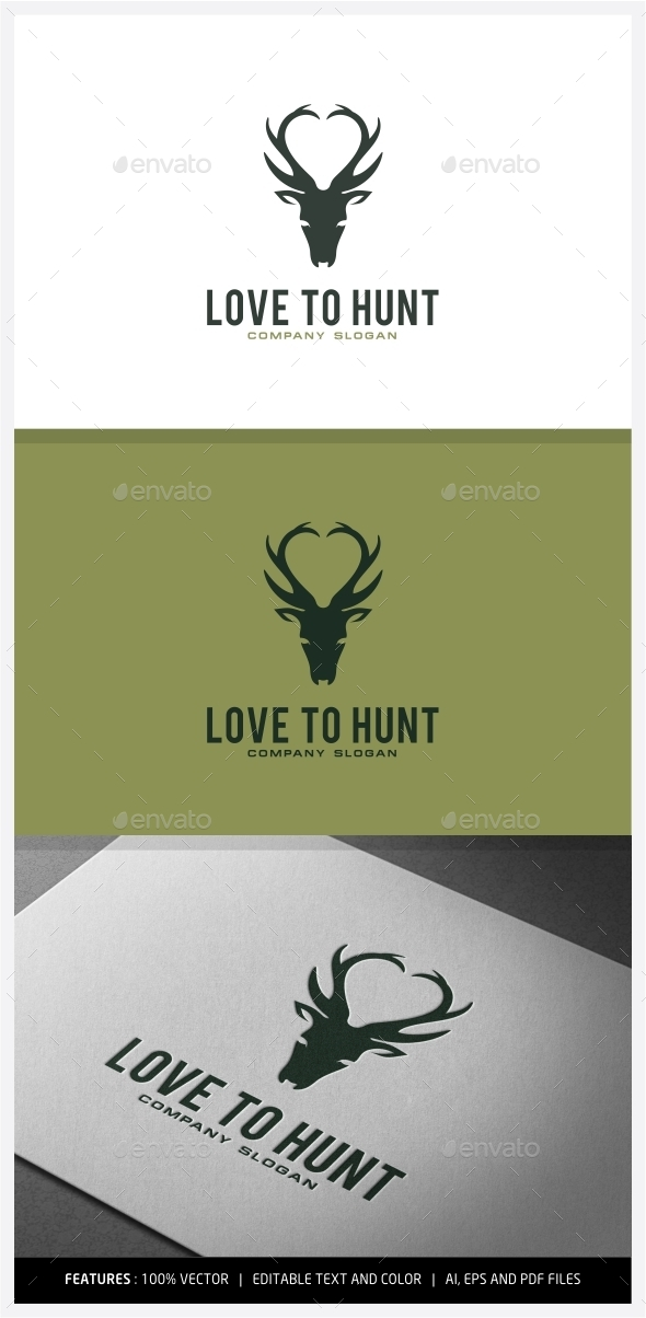GraphicRiver Love to Hunt logo Designs 9930455