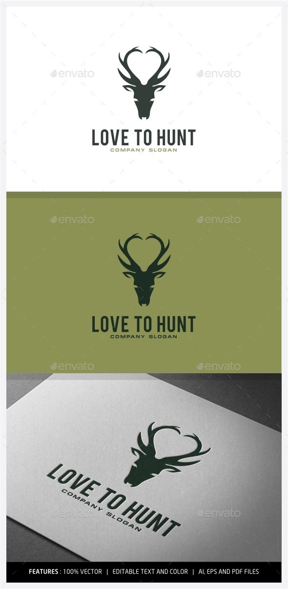 GraphicRiver Love to Hunt logo Designs 9930455