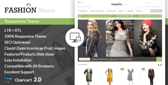 Fashion Store - Responsive Opencart Theme - Fashion OpenCart
