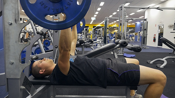 Bench Press at the Gym