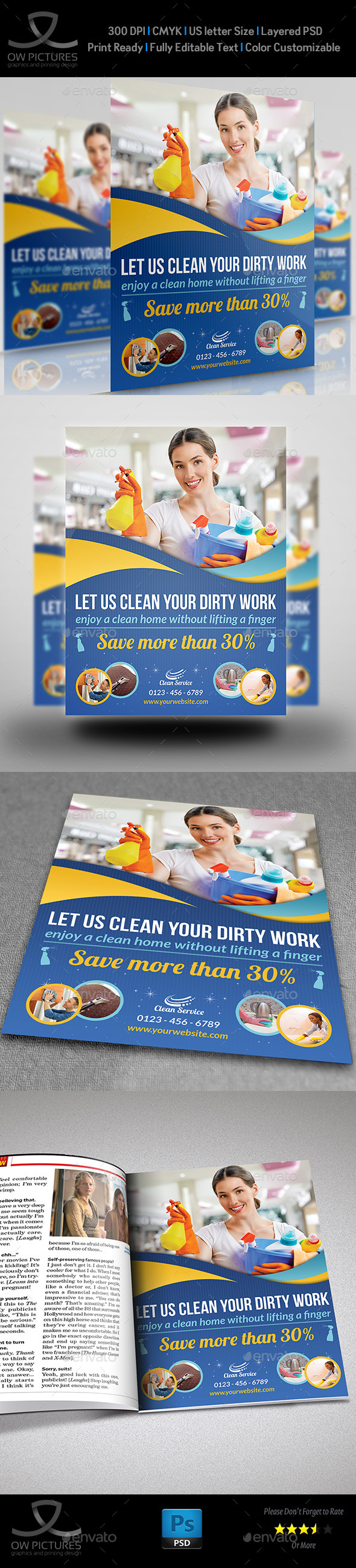 GraphicRiver Cleaning Services Flyer Template Vol2 9945591