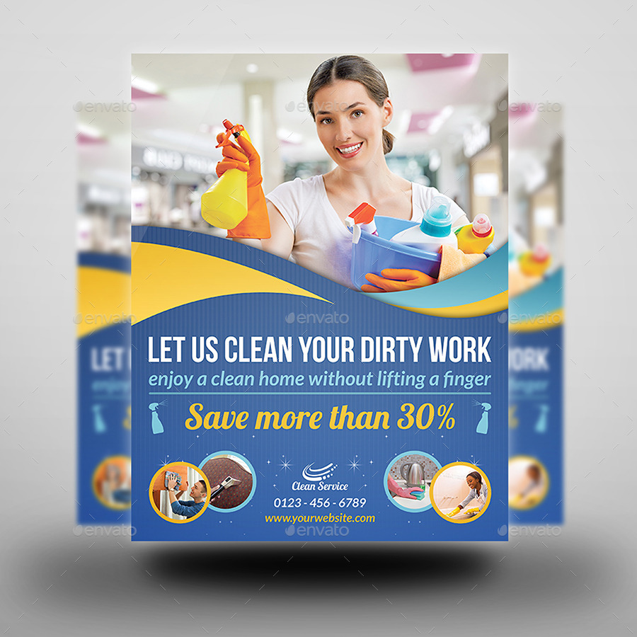 Cleaning Services Flyer Template Vol2 By Owpictures