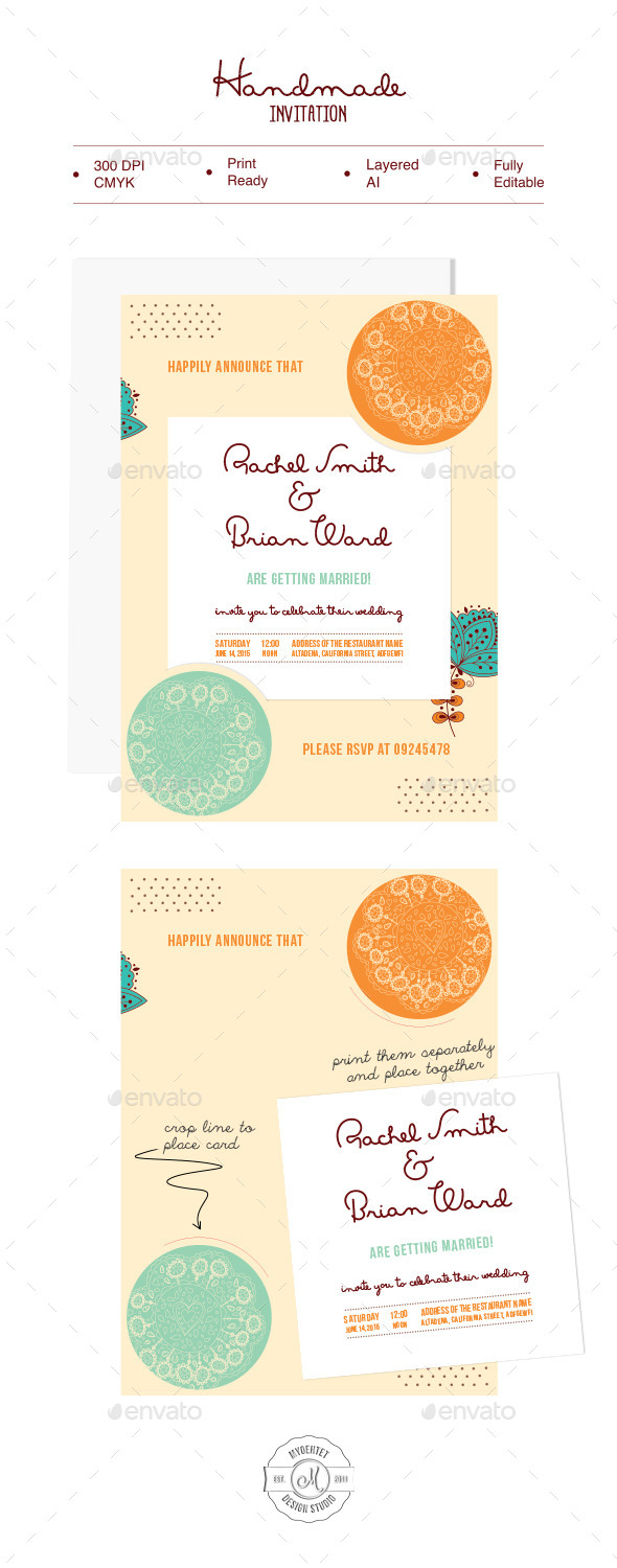 GraphicRiver Handmade Invitation 9949759