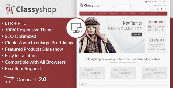 Classy Shop - Responsive OpenCart Template - OpenCart eCommerce