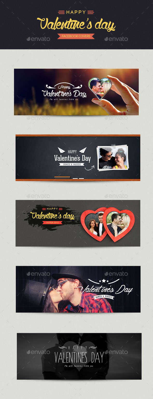 GraphicRiver FB Valentines Day Covers 9949799
