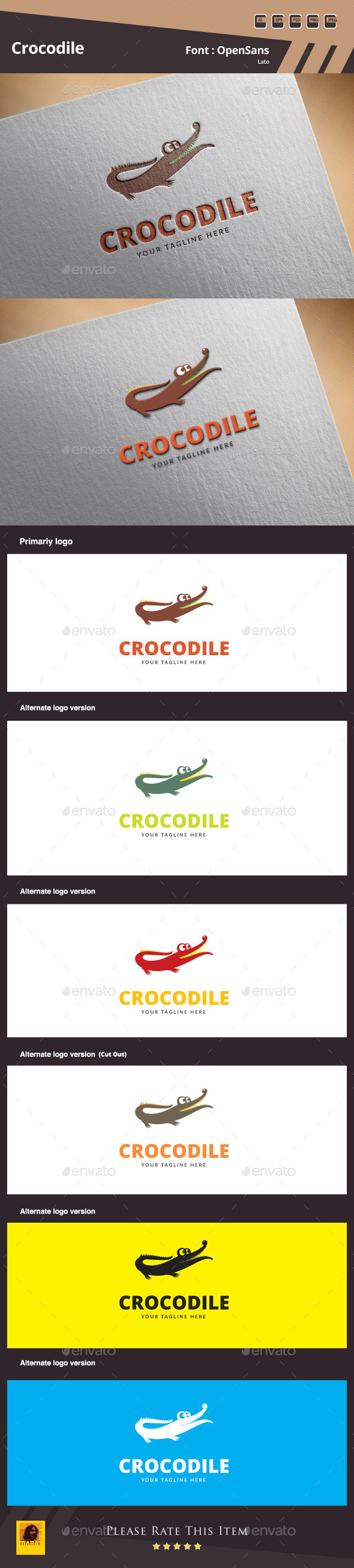 GraphicRiver Crocodile Logo Template 9949881