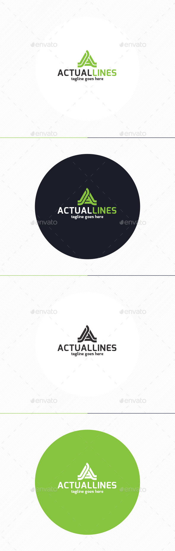 GraphicRiver Actual Lines Logo Letter A 9950269