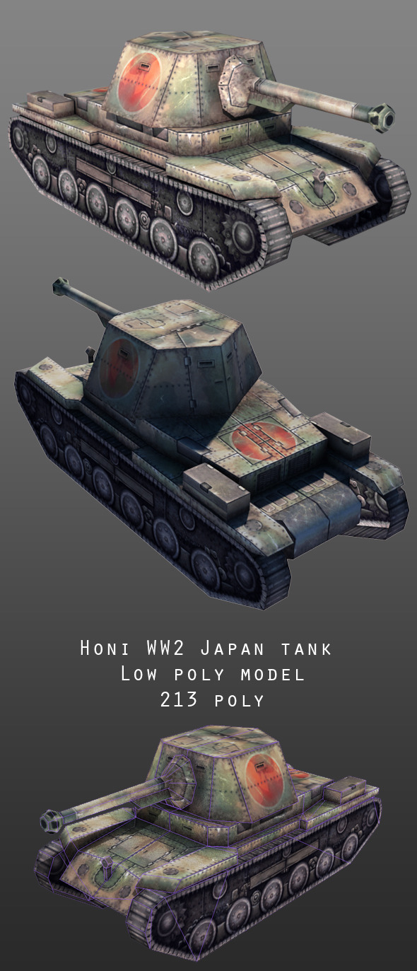 Honi Japan Tank - 3DOcean Item for Sale