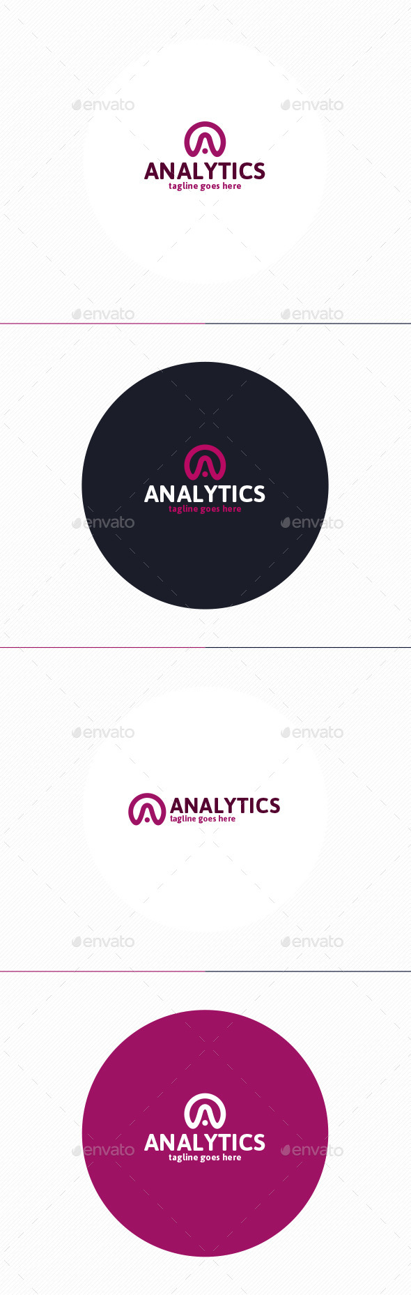 GraphicRiver Analytics Logo Letter A 9950577
