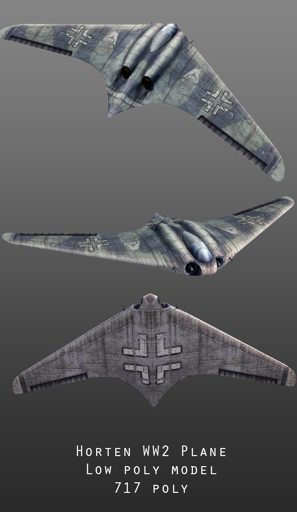 Horten WW2 Aircraft - 3DOcean Item for Sale