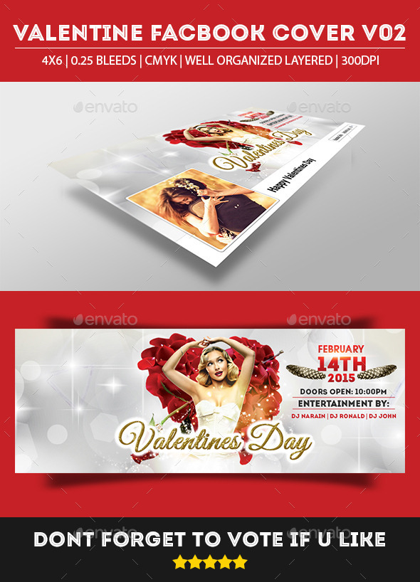 GraphicRiver Valentine Facebook Cover 9950646