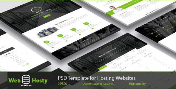 ThemeForest WebHosty Hosting PSD Template 9950719