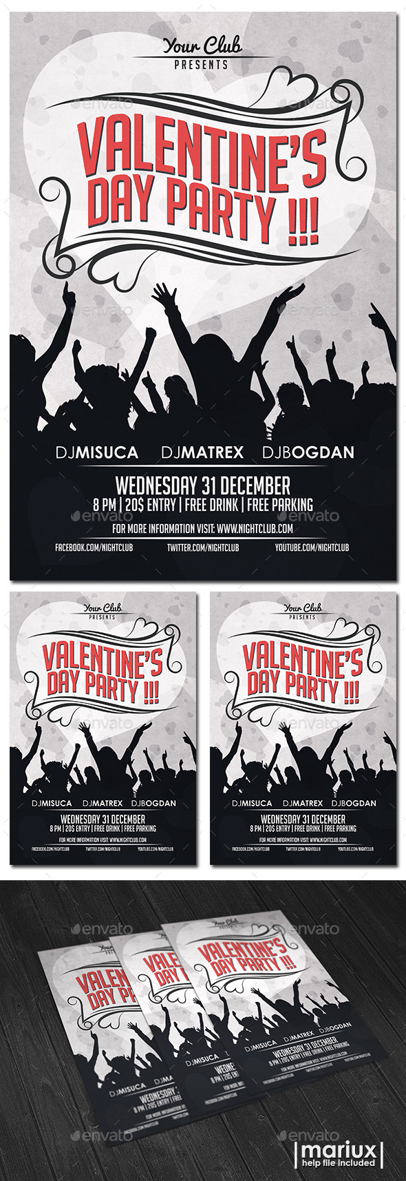 GraphicRiver Valentine s Day Party Flyer 9950763