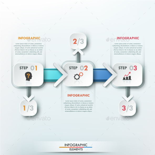 GraphicRiver Modern Infographic Paper Process Template 9950916