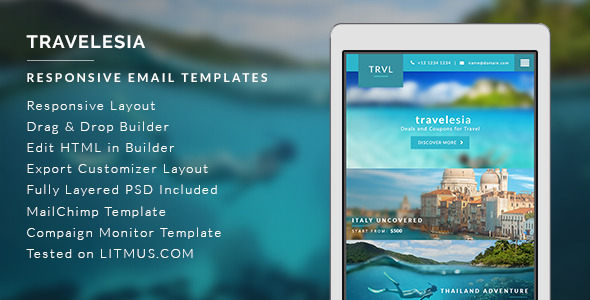 Graphicriver Travel Agent HTML Email Template