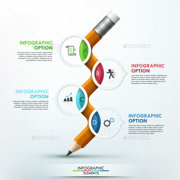 GraphicRiver Modern Infographic Pencil Template 9950988