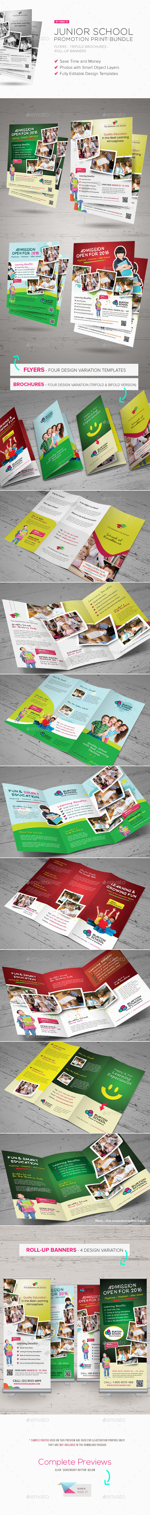 Junior School Promotion Bundle - Corporate Flyers