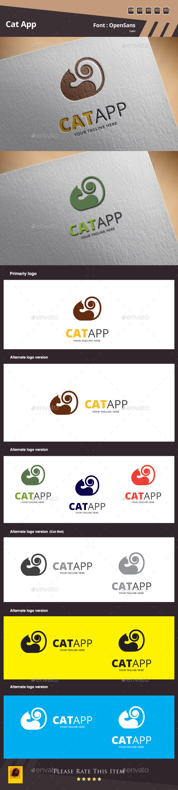 GraphicRiver Cat App Logo Template 9951011