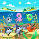 Marine Animals in the Sea - GraphicRiver Item for Sale