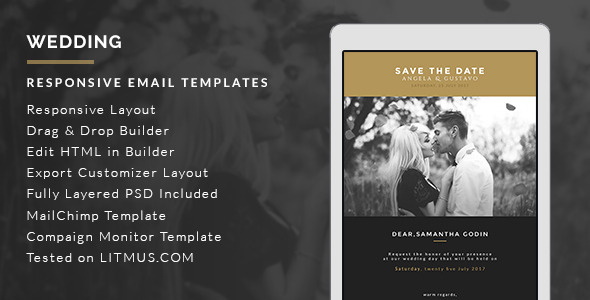 Graphicriver Wedding HTML Email Template