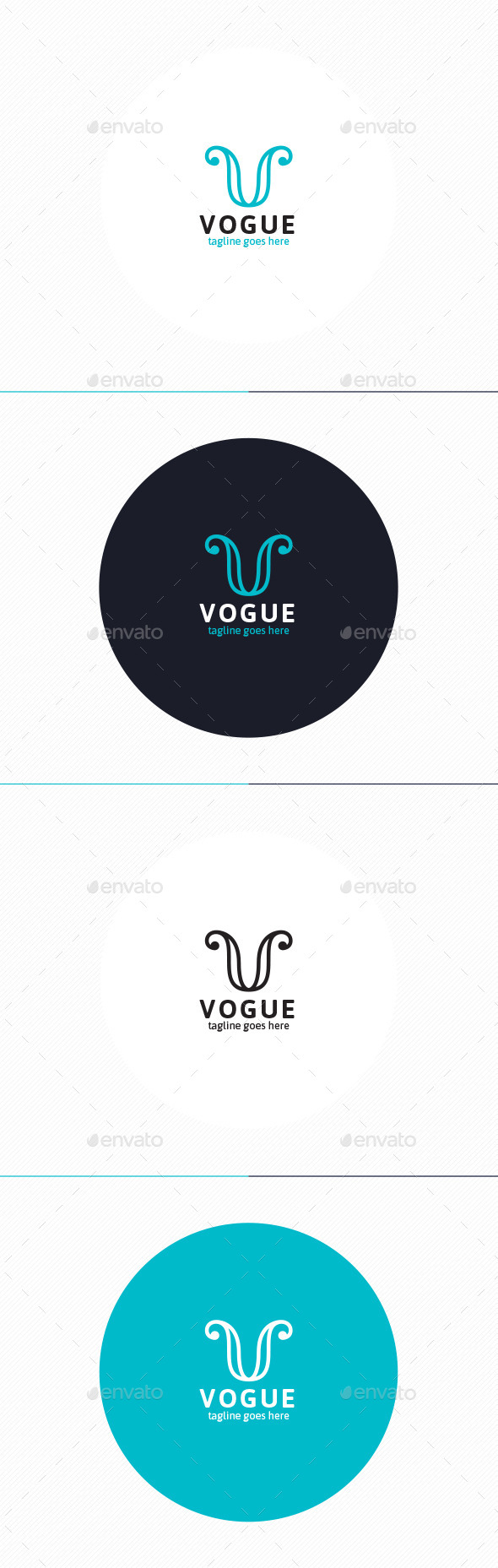 GraphicRiver Vogue Logo Letter V 9951164