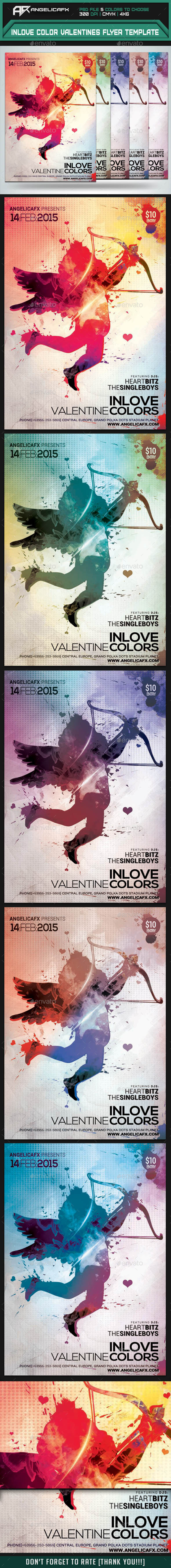 GraphicRiver Inlove Valentine Colors Flyer Template 9951228