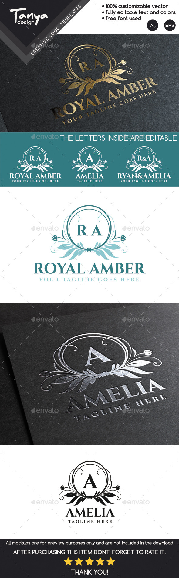 GraphicRiver Royal Amber Logo Template 9951239