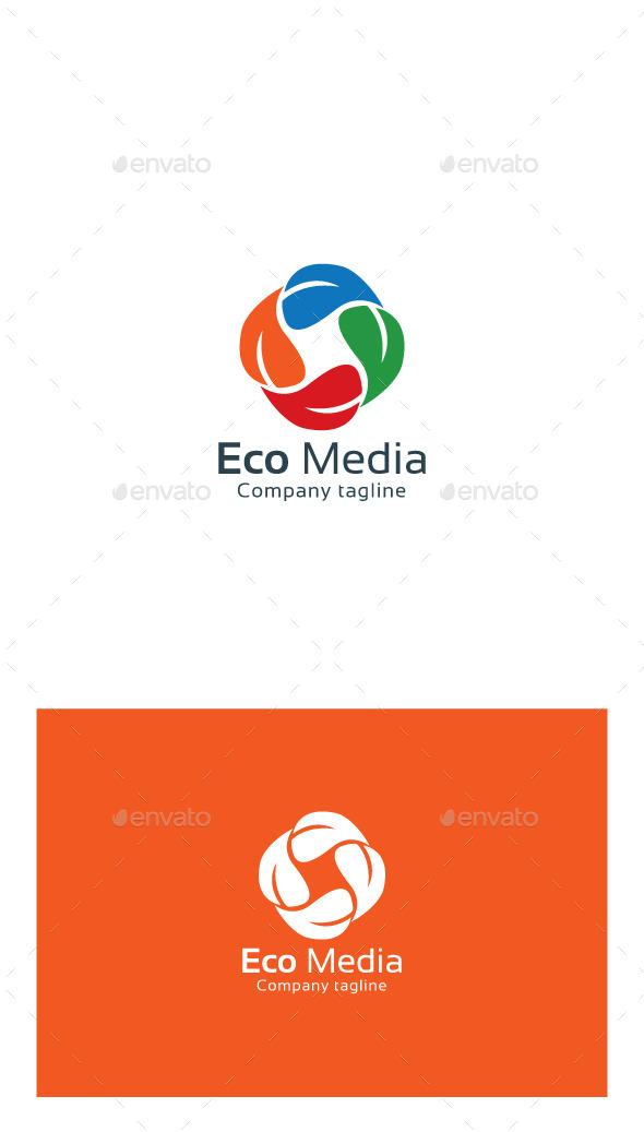 GraphicRiver Eco Media Leaf Logo 9951263