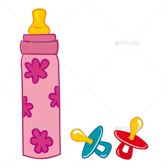 GraphicRiver Baby Bottle and Pacifier 9951268