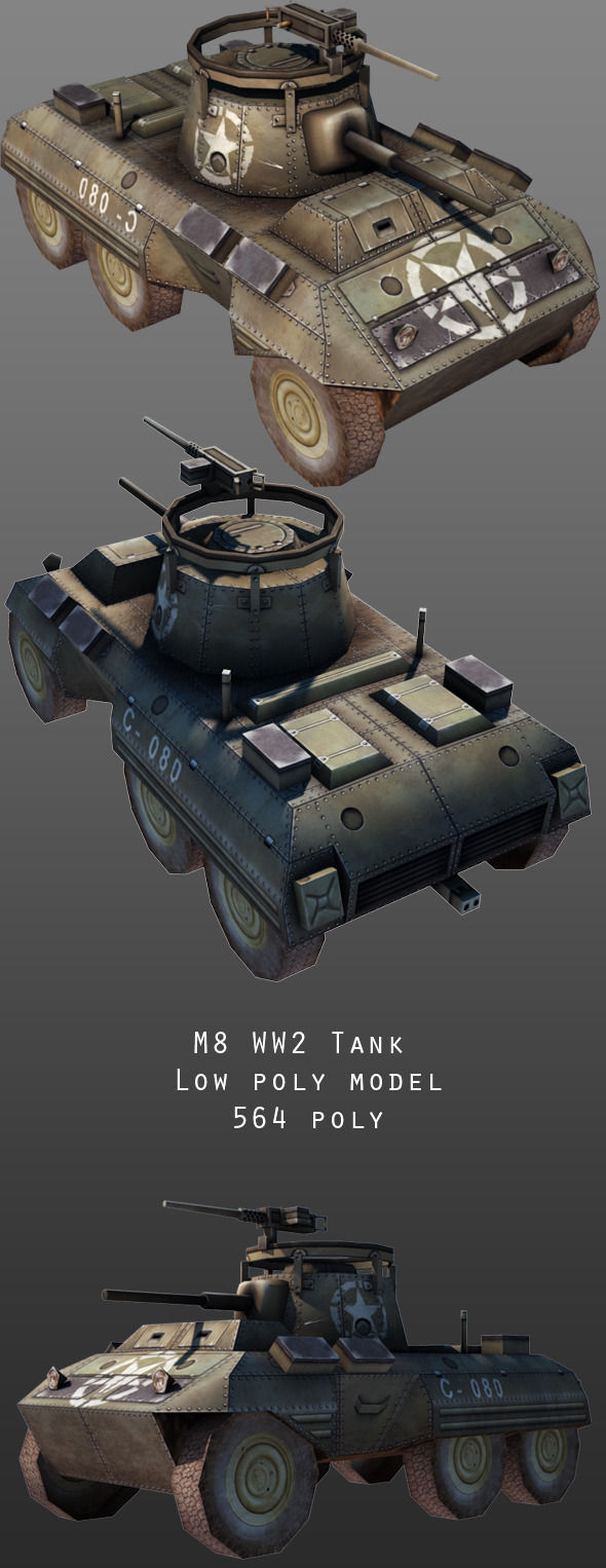 3DOcean M8 Tank 9951269