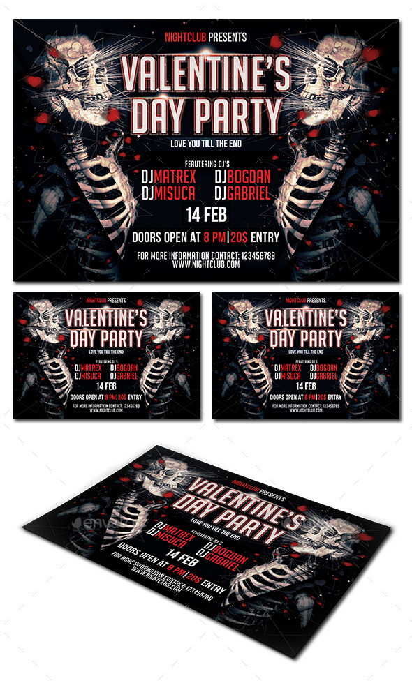 GraphicRiver Valentine s Day Party Flyer 9951298