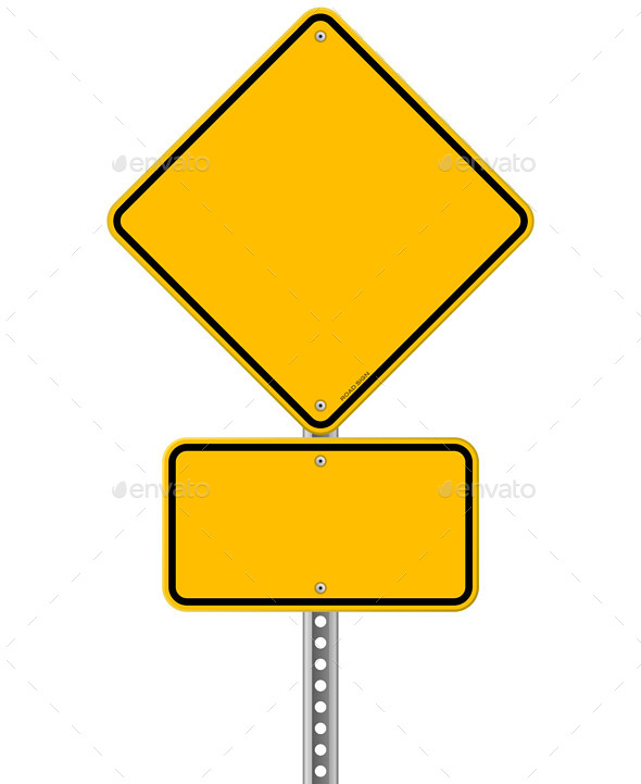 GraphicRiver Yellow Sign and Pole 9951383