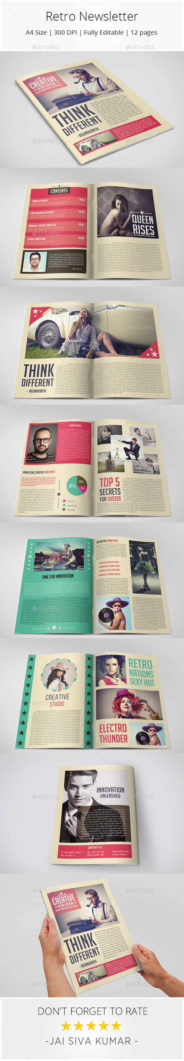 GraphicRiver Retro Style Newsletter 9951388