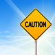 Caution on Blue Sky Background - GraphicRiver Item for Sale