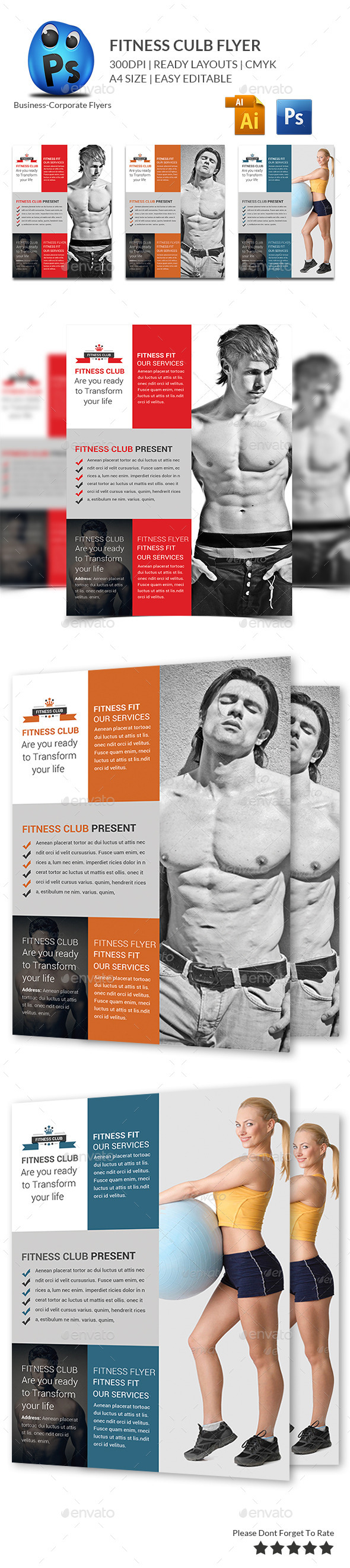 GraphicRiver Fitness Flyer Print Templates 9951451