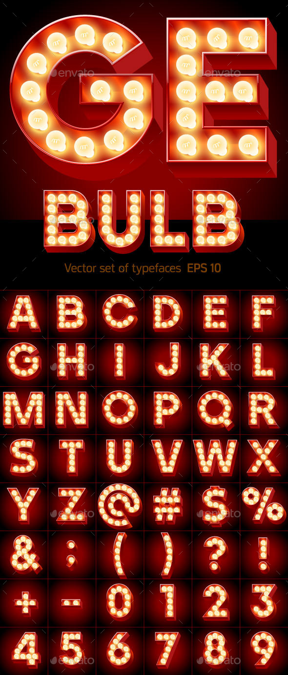 GraphicRiver Old Lamp Alphabet 9951468