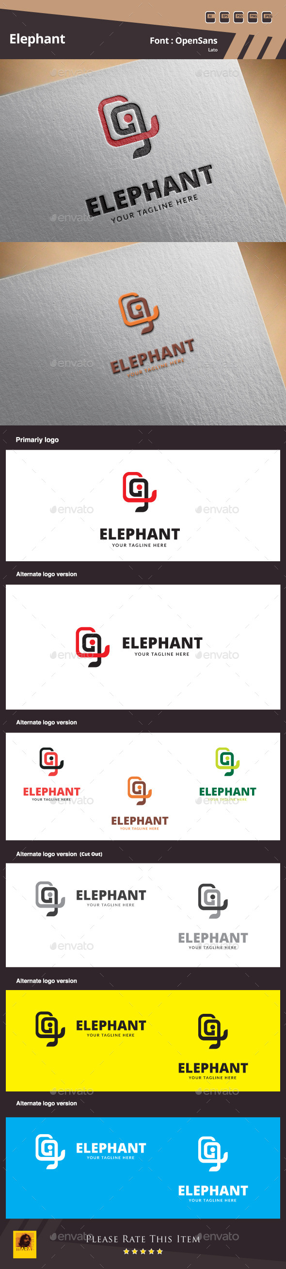 GraphicRiver Elephant Logo Template 9951479