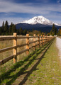 Ranch Fence Row Countryside Rural California Mt Shasta - PhotoDune Item for Sale