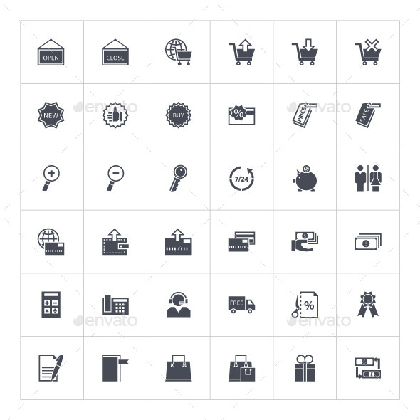 GraphicRiver Shopping Icons 9951750