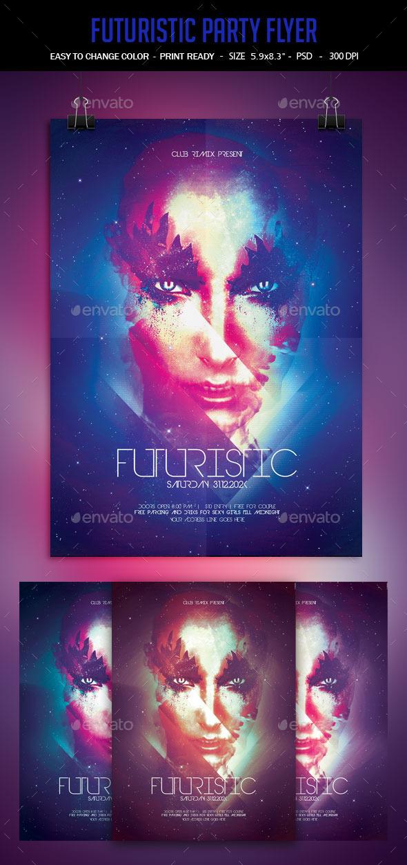 GraphicRiver Futuristic Poster 9952083