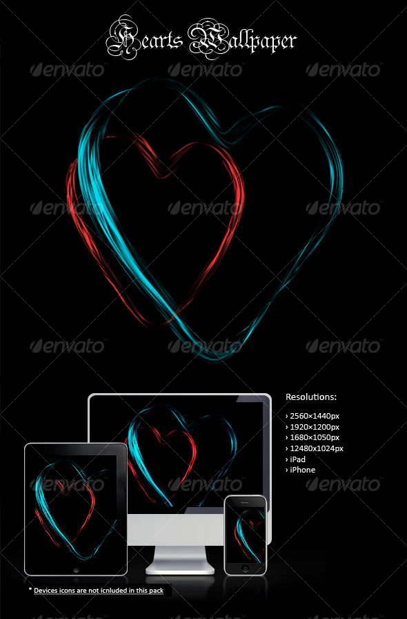 Graphic River Hearts Wallpaper Graphics -  Backgrounds 123777