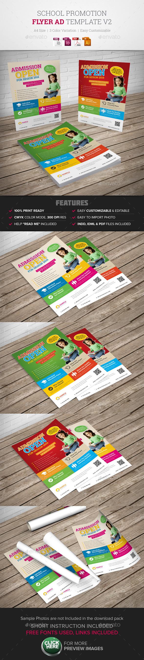 GraphicRiver School Promotion Flyer Ad v2 9952771