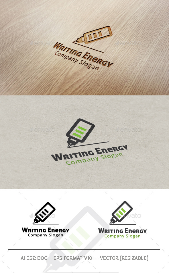 GraphicRiver Writing Energy Logo 9942621