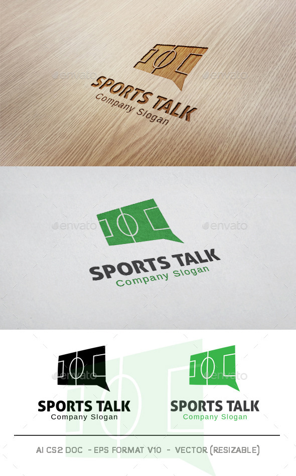 GraphicRiver Sports Talk Logo 9953299