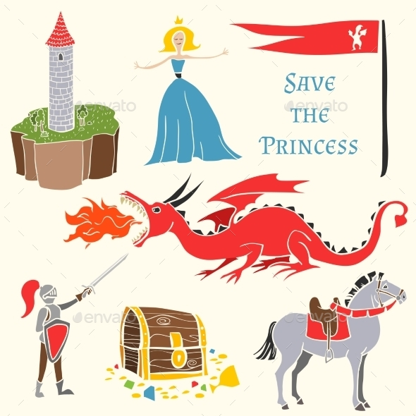 GraphicRiver Set of Mediavels Tale Icons 9953300