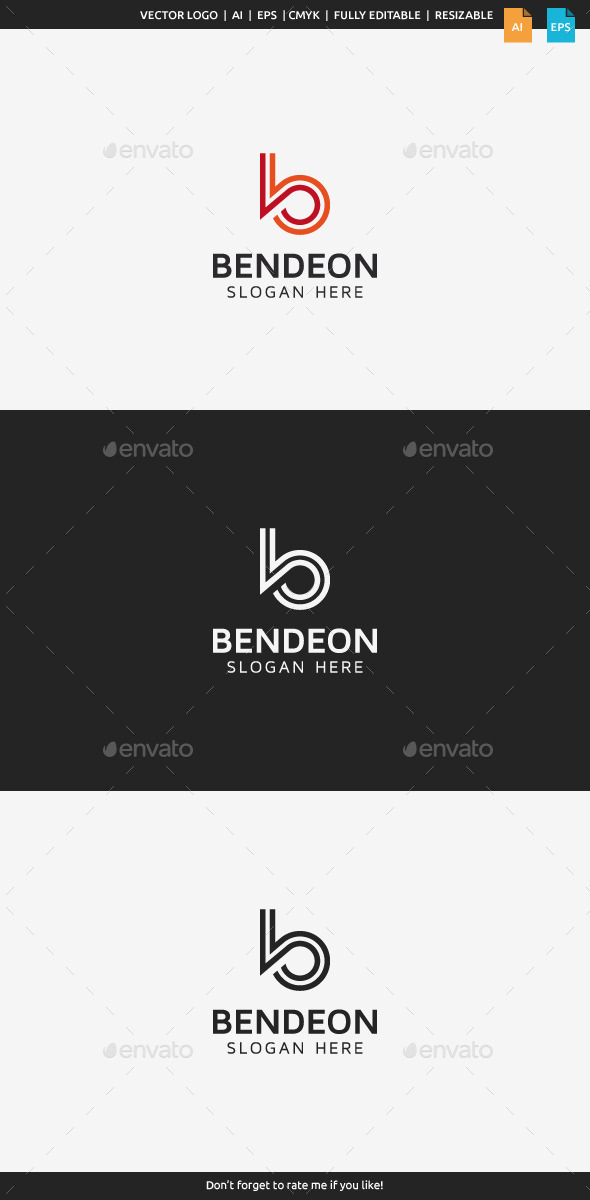 GraphicRiver Bendeon Letter B 9953309
