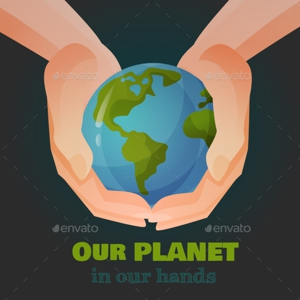 GraphicRiver Hands Holding the Earth 9953316