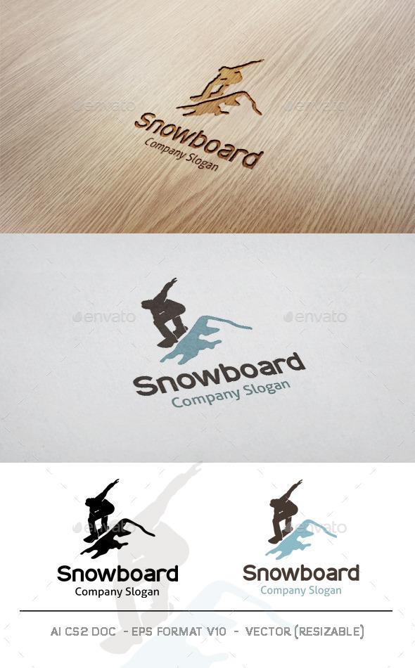 GraphicRiver Snowboard Logo 9953361