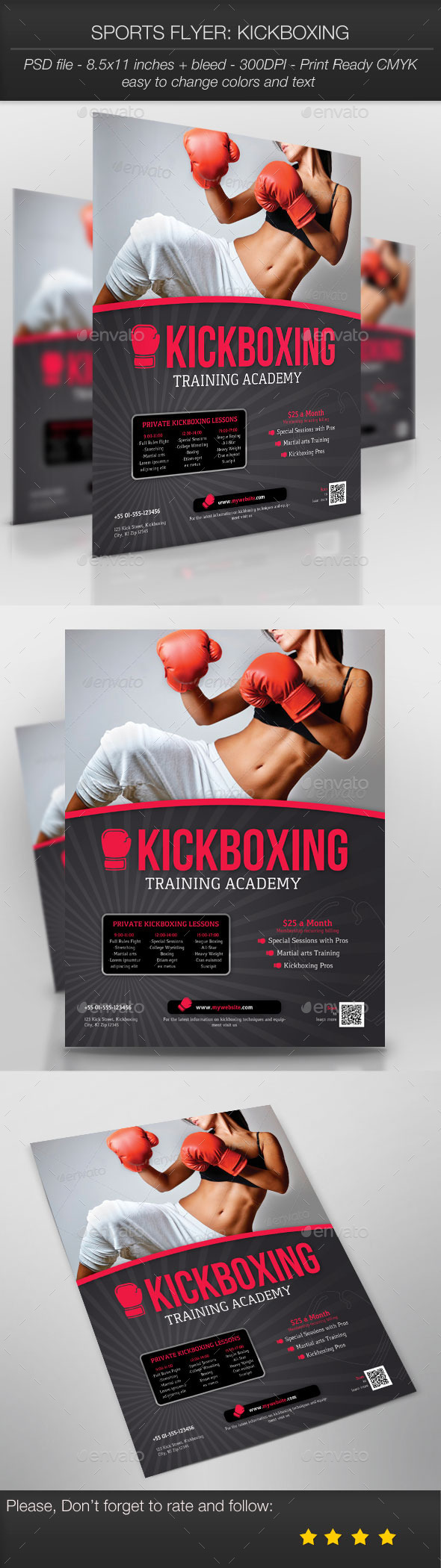 GraphicRiver Sports Flyer Kickboxing 9953604