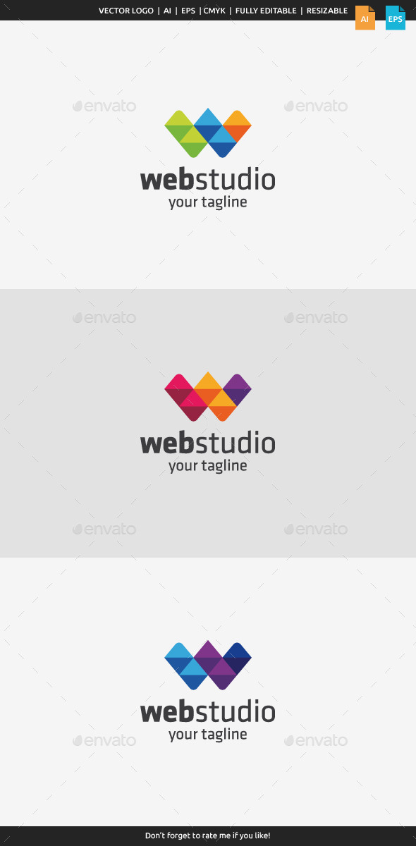 GraphicRiver Web Studio Letter W 9953607